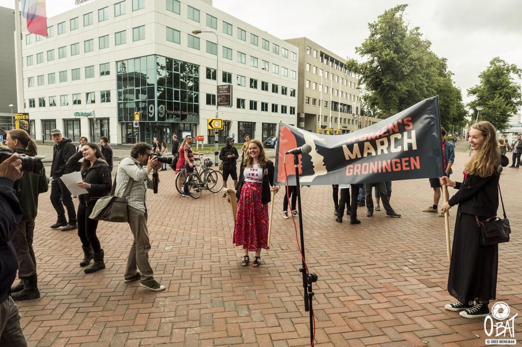 een foto van de bewuste middag bij de Martiniplaza te Groningen ::: foto: Obed Brinkman