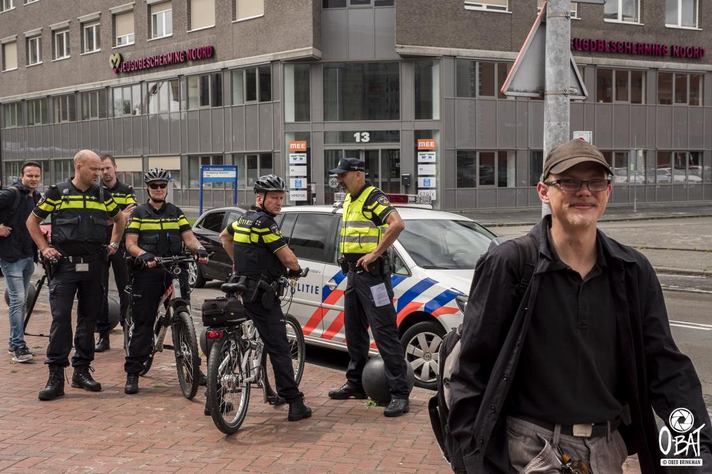 de politie was er ook ::: foto: Obed Brinkman