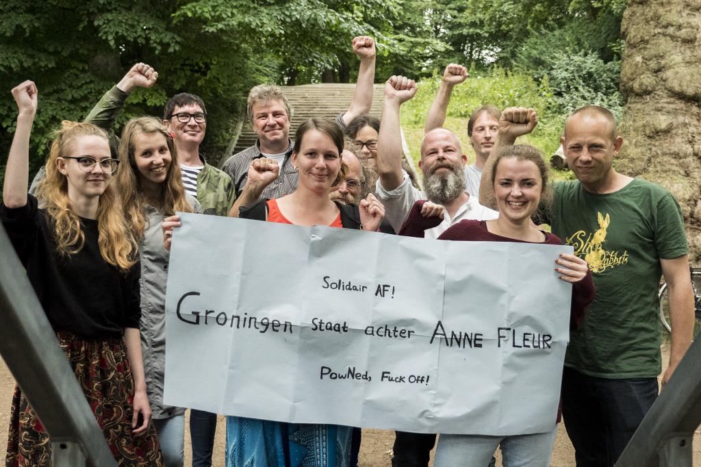 Groningen support Anne Fleur ::: foto: Obed Brinkman