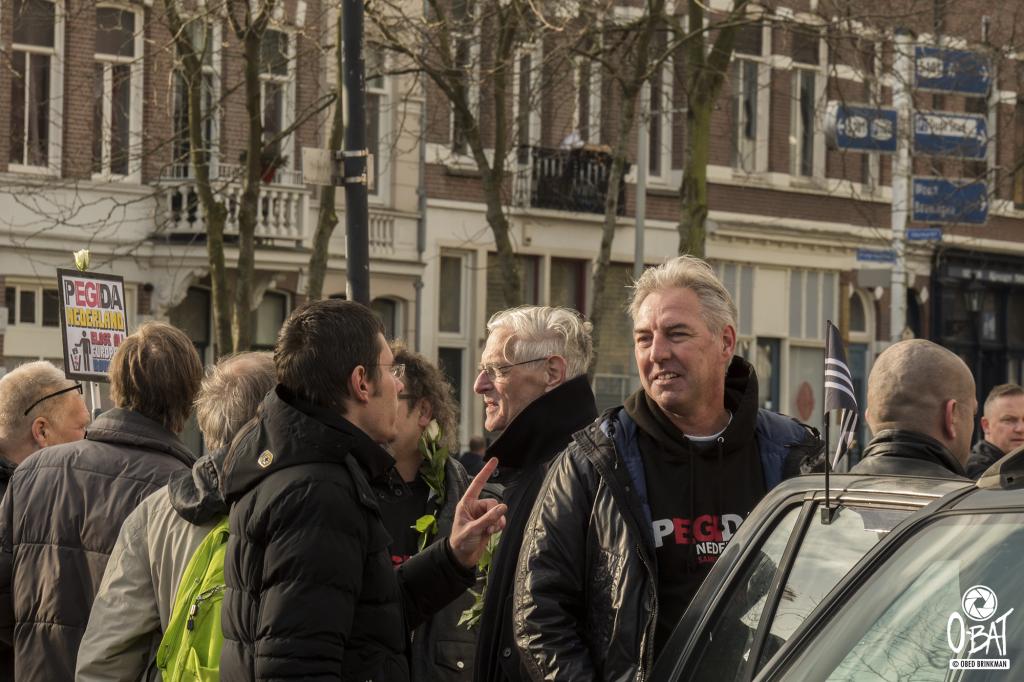Edwin Wagensveld van Pegida 26-11-2017 nijmegen foto: Obed Brinkman