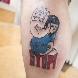stop seksueel geweld tattoo