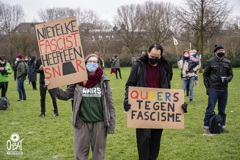 """Manifestatie: """"Van de VS tot NL: nooit meer fascisme!"""""""